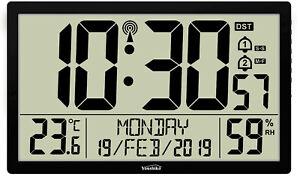 Jumbo XXXL LCD Radio Controlled MSF Digital Wall Clock ( UK & Ireland Version )