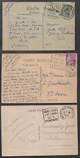 ILLE & VILAINE/ 1920-30's LOT DE 5 DAGUIN SUR CP / COTE > 40 Euro (ref 7195)