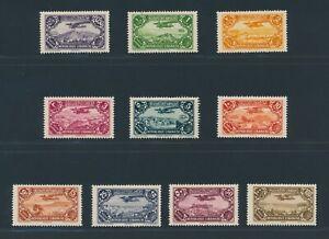 "LEBANON 1930/31, Mi. 186-95 */MH, ""Airmails"", very fresh and fine!!"