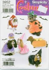 Simplicity 3952 DOG COSTUME Santa Princess Prince Witch sewing pattern UNCUT