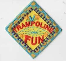 Boy Cub Girl Scouts Embroidered Badge Fun Patch~Trampoline Fun