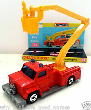 Vintage MATCHBOX Superfast 13 SNORKEL FIRE ENGINE Diecast Model & Custom Display