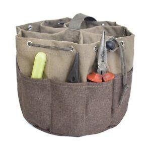 Canvas Tote Storage Tool Carry Bag Bucket Hand Power Tool Fixings Bag Organiser