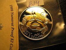 Canada 1999  $2 Coin Nunavut 24K Gold Plated Silver Proof Gem ID#B17.