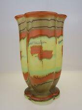 Seltene, große Steuler Art Déco Vase mit großartiger Glasur