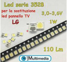 10 Led 3528  per retroilluminazione TV LG 1W 3V 110 LM