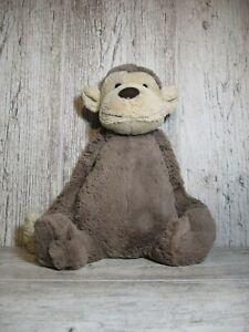 """Jellycat London Bashful Monkey Plush 12"""" Brown Super Soft Stuffed Animal Toy"""