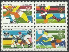 Brasil. 1988. brazialian campeonatos de fútbol Set Sg: 2322a. menta nunca con bisagras
