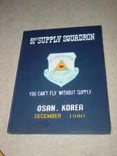 U.S. Air Force 51st Supply Squadron Osan Air Base, Korea 1980 Yearbook USASF