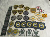 HUGE LOT OF 32  POLICE & SECURITY PATCHES