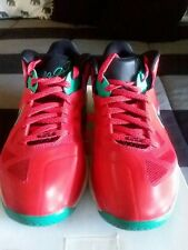 NIKE LEBRON IX 9 LOW  LIVERPOOL RED BLACK WHITE GREEN SIZE 8 PRE OWNED GREAT!