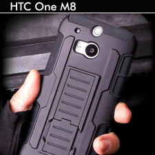 TPU Case Cover For HTC One M8 Heavy Duty Tough Shockproof Kickstand Hybrid Armor