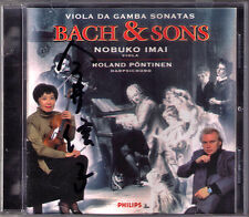 Nobuko IMAI Signiert BACH & SONS Viola da Gamba Sonata Roland PÖNTINEN CD 今井信子