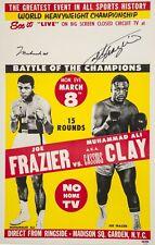 Muhammad Ali vs. Joe Frazier V2 SIGN METAL PLAQUE Vintage poster picture print