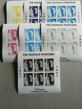 Sellos Kirguistán. Hojitas nuevas  MNH. Diana con distintas fases de color.