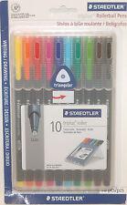 Staedtler Triplus Roller - 10 Colors Rollerball Pens Set 0.4 mm 403 SB10BK