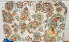 """SET OF 4 LINEN FABRIC PLACEMATS 12"""" x 18"""", FLOWERS, PAISLEY by BH"""