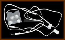 White Flat Cable 3.5mm In Ear Stereo Handsfree for HTC Desire 300 / 700 / 816