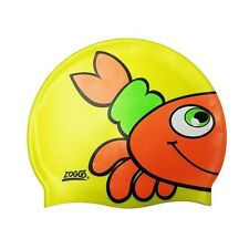 SWIMMING CAP ZOGGS SILICONE CHARACTER CAP YELLOW WITH ORANGE CRAB