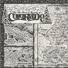 More details for the map of colorado ski areas & resorts - fine art prints by manuscript maps