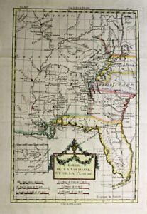 1781 Bonne Map of Colonial Florida, Georgia and Louisiana