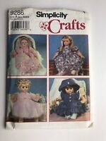 Simplicity 9286 Doll Clothes Girl Baby Dresses Hats sewing pattern UNCUT FF