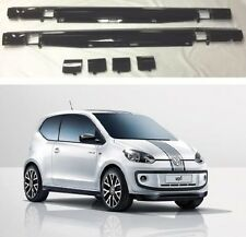 NEW GENUINE VW ROCK UP UP! PIANO BLACK PAINTED SIDE SPOILER SKIRTS SET
