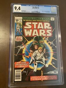 Star Wars #1  9.4 NM WHITE PAGES(Jul 1977, Marvel)