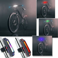 Bike Bicycle Cycling USB Rechargeable Front Rear Light COB LED Warning Tail Lamp
