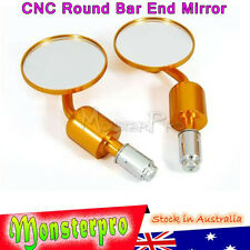 """Rear view Handle Bar End 7/8"""" Mirror For Honda Kawasaki Suzuki Yamaha Aprilia"""