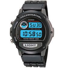 Casio W87H-1V, Digital Watch, Black Resin Band, Stopwatch, Alarm, 50 Meter WR