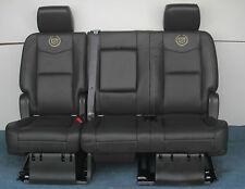 2014 2013 2012 Escalade ESV Platinum 2nd Row Bench Seat in Ebony Black Leather
