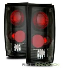 For 82-93 Chevy S10/83-94 Blazer Black Altezza Tail Lights Rear Brake Lamps