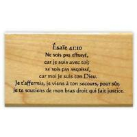 ISAIAH 41:10 in FRENCH mounted rubber stamp, Christian bible verse scripture #11