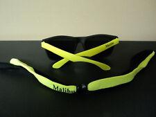 Malibu Yellow Neon Colors Sunglasses with Matching Keeper