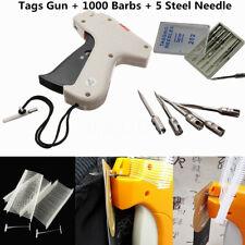Clothing Socks Garment Price Label Tagging Tag Gun Tool +1000 Barbs+5 Needles