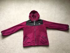 The North Face Girls Purple Oso Plush Fleece Soft Hooded Jacket Size L (14-16)