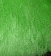 *Aktion* Langhaar-Fellplüsch grün 70-80mm Flor,Flokati,Kostüme,Basteln,Fasching