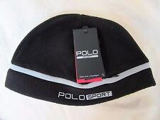 NWT  Ralf Lauren_Polo Sport  Unisex Beanie-6PS010 (Black/Silver Stripe)