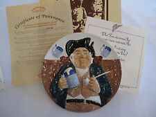 1984 Collector Plate Toby Fillpot 1st Issue Toby Pate Collection Davenport