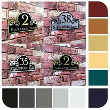 House Number Sign Address Plaque Door Decorative Glass Effect Made To Order