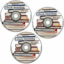 11,5 GB  ✔ ebooks MEGASAMMLUNG auf 3 DVD's ebook NEU Sammlung für PC Reader etc.