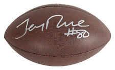 49ers Jerry Rice Authentic Signed Wilson NFL Football BAS Witnessed