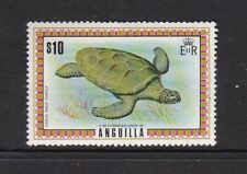 ANGUILLA 1972 $10 GREEN BACK TURTLE NEVER HINGED MINT