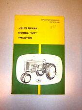 "John Deere Model ""MT"" Tractor Operator's Manual OM-TMT-1051"