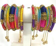 Indian Bollywood Ethnic 22pcs Multi Colored  Bridal Bangles Set Jewelry 2.6.