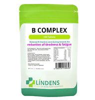Lindens Vitamine B Complexe B1 B2 B3 B5 B6 B12 Folique Biotine 100 Comprimés