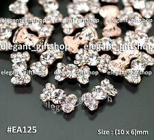 10pcs Alloy Jewelry Nail Art Decoration Champagne Gold Glitter Bow Knot #EA125