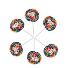 Rainbow Whirly Pops, Lollipops 6 Individual Pops