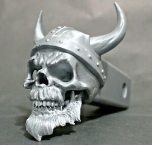 """Viking Skull 3D Trailer Hitch Receiver Plug that fits 2"""" Receivers"""